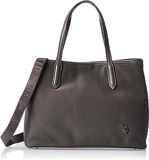 US Polo Womens LARGE Double Handle Handbag, Grey - BIUPO0286WVP100