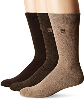 CHAPS mens Assorted Solid Dress Crew Socks (3 Pack)