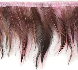 Zucker Feather Products Feather Candy Pink Badger Hackle Fringe