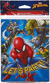 American Greetings Spider Man Invite and Thank-You Combo Pack, 8-Count