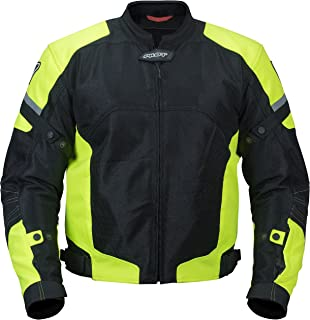 Pilot Motosport Men's Direct Air Mesh Motorcycle Jacket (V3) (Hi-Vis, Medium)