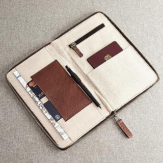 4b1a8cf2f Porta Pasaporte De Piel Café, Billetera Organizadora De Documentos,  Accesorio De Viaje, Regalos