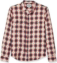 Lucky Brand Men's Long Sleeve Button Up No Yoke Western Shirt