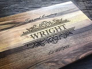 wedding gift engraved cutting board