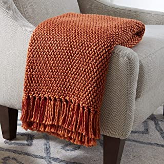 Stone & Beam Modern Woven Farmhouse Throw Blanket, Soft and Cozy, 50