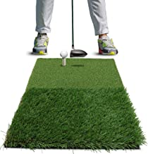 Rukket Golf Hitting Grass Mat | Realistic Fairway & Rough | Portable Driving, Chipping, Training Aids, Equipment for Residential Backyard & Indoor Practice with Rubber Tee & Balls