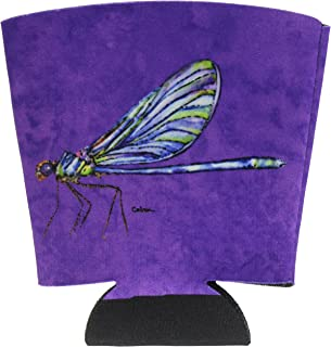 Dragonfly on Purple Red Solo Cup Beverage Insulator Hugger