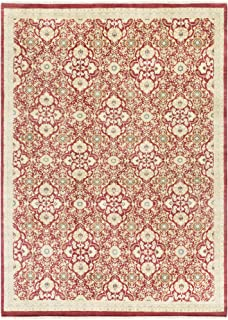 Surya EMS7012-811 Empress Area Rug, 8' x 11', Red, Neutral