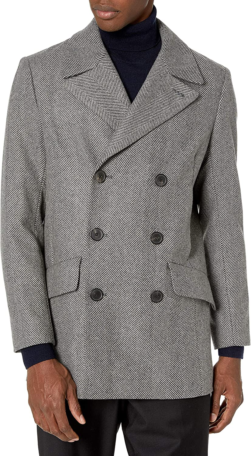 Theory Men's Doublebreasted Pea Coat