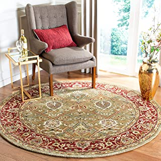 Safavieh Persian Legend Collection PL819B Handmade Traditional Light Green and Rust Wool Round Area Rug (10' Diameter)