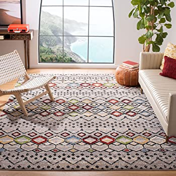 Safavieh Amsterdam Moroccan Boho Non-Shedding Area Rug