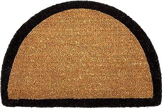 60x90 cm Half Round Semi Circle Coir Doormat Welcome Entry Mat Black Border