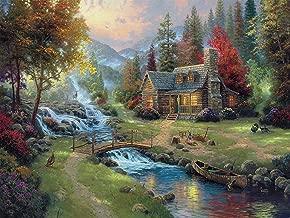 Ceaco 3401-40 Thomas Kinkade Mountain Paradise Puzzle - 1500Piece
