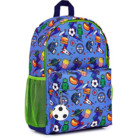 CityComfort Mochilas Escolares Juveniles, Mochila Escolar de Videojuegos y Mochila Camuflaje, Mochila Infantil para Colegio Deporte Viajes, Regalos para Niños y Adolescentes (Azul/Verde)