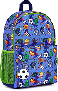 Mochilas Escolares Juveniles, Mochila Escolar de Videojuegos y Mochila Camuflaje, Mochila Infantil para Colegio Deporte Viajes, Regalos para Niños y Adolescentes (Azul/Verde)