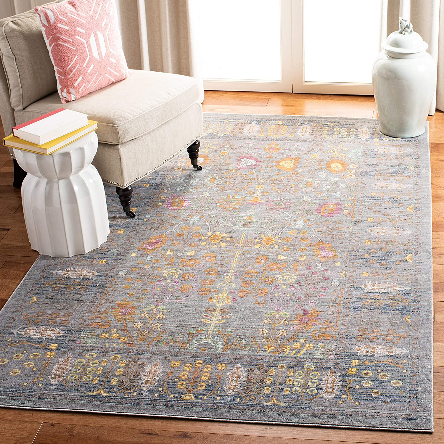 Safavieh 70% OFF Outlet Valencia Collection VAL108C Omaha Mall Boho Chic Distressed R Area