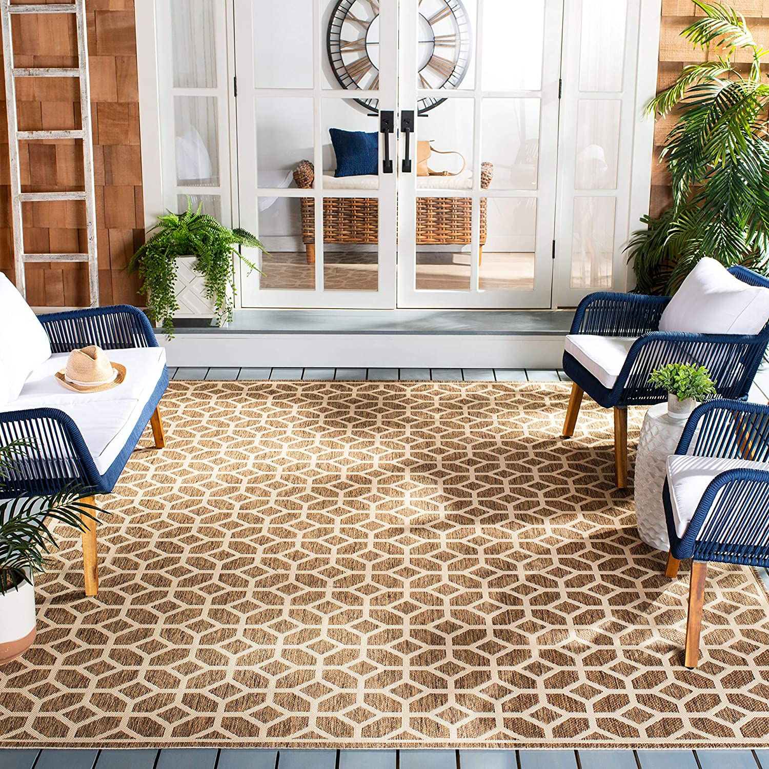 Safavieh Beach House Collection Nashville-Davidson Selling and selling Mall BHS127D Outdoo Indoor Geometric