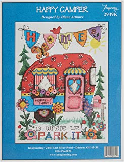 M & R Technologies Happy Camper Counted Cross Stitch Kit