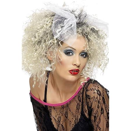 SMIFFYS Smiffy's - Parrucca selvaggia anni '80, Donna, Taglia unica