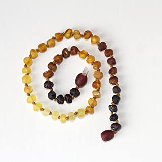 Hippie Hoopla Raw Baltic Amber 16 CHOKER Necklace for Adults Medium colored