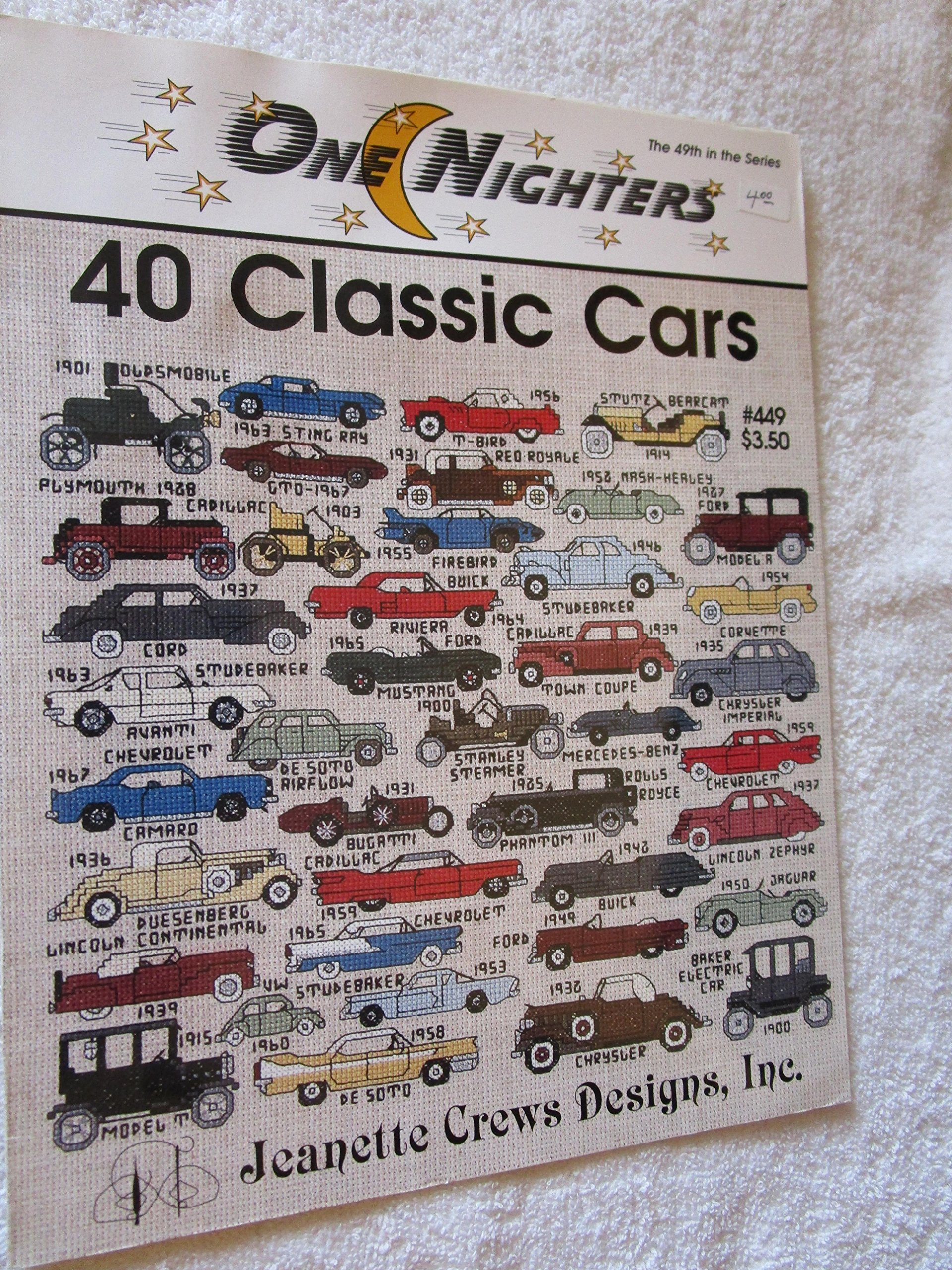 Book 516 Muscle Cars Of The 70s Cross Stitch Chart