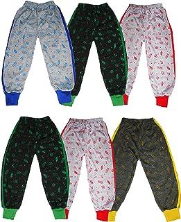 KIFAYATI BAZAR Kids Boys Girls Unisex Track Pant Lower all over Print Cotton Pyjama pack of 6
