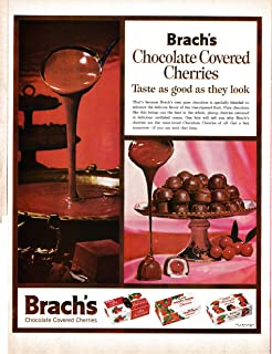 1961 Brachs Chocolate Covered Cherries-Original 13.5 * 10.5 Magazine Ad-Taste Good