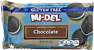 Mi-Del Gluten Free Cookies, Chocolate Sandwich, 8 Ounce