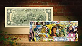 SOLO - STAR WARS MOVIE Han Solo Falcon Chewbacca Signed by Rency $2 Bill *Odds*