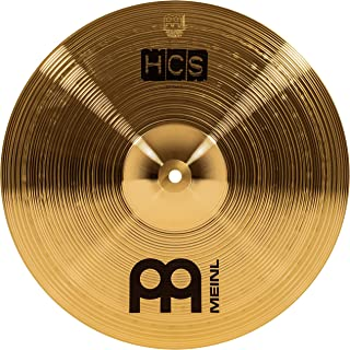 """Meinl 14"""" Crash Cymbal – HCS Traditional Finish Brass for Drum Set, Made In Germany, 2-YEAR WARRANTY (HCS14C)"""