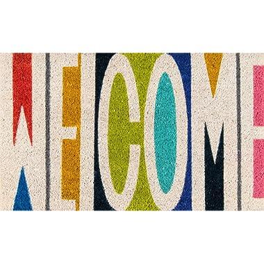 Novogratz Aloha Collection Welcome Doormat, Multi, 1'6  x 2'6 , Multicolor
