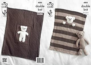 teddy bear blanket knitting pattern