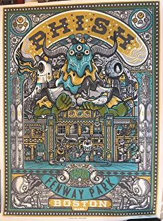 Phish boston poster fenway park drew millward art 2019 concert tour new