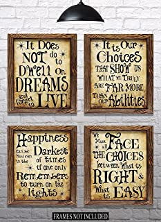 Everything Rustique Harry Potter Quotes & Sayings - Set of 4-8