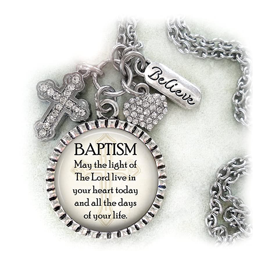 Baptism Keychain, Purse Clip, Necklace, Bible Verse, Christian Faith Jewelry