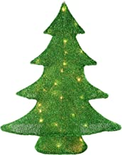 WeRChristmas Christmas Tree with Tinsel Decoration and Warm White LED Lights, 62 cm - Large, Multi-Colour