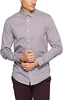 Ben Sherman Men Long Sleeve Apple Print Twill Shirt