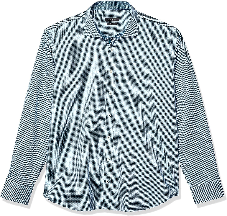 Bugatchi Arlington Mall Men's Long Sleeve Shaped Fit Cotton 100% Sh Down Button Regular dealer
