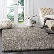 Safavieh Milan Shag Collection SG180-8080 2-inch Thick Area Rug, 4' x 6', Grey