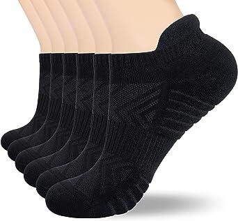 Tmani Trainer Socks Cushioned, 3/6 Pairs Odor-free Running Socks Durable Sports Socks Anti-blister Gym Socks Cotton Socks Ankle Socks for Hiking Walking Work