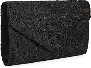 Sponsored Ad - UBORSE Women`s Elegant Floral Lace Evening Clutch Envelope Prom Handbag Wedding Purse