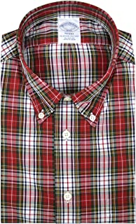 Brooks Brothers Mens 93873 Regent Fit Cotton The Original Polo Button Down Shirt Red White Plaid