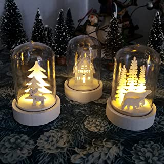 Bright Eyes - 3-Pack - Holiday Indoor Led Battery Operated Mini Globe - 3 Extra 2032 Batteries