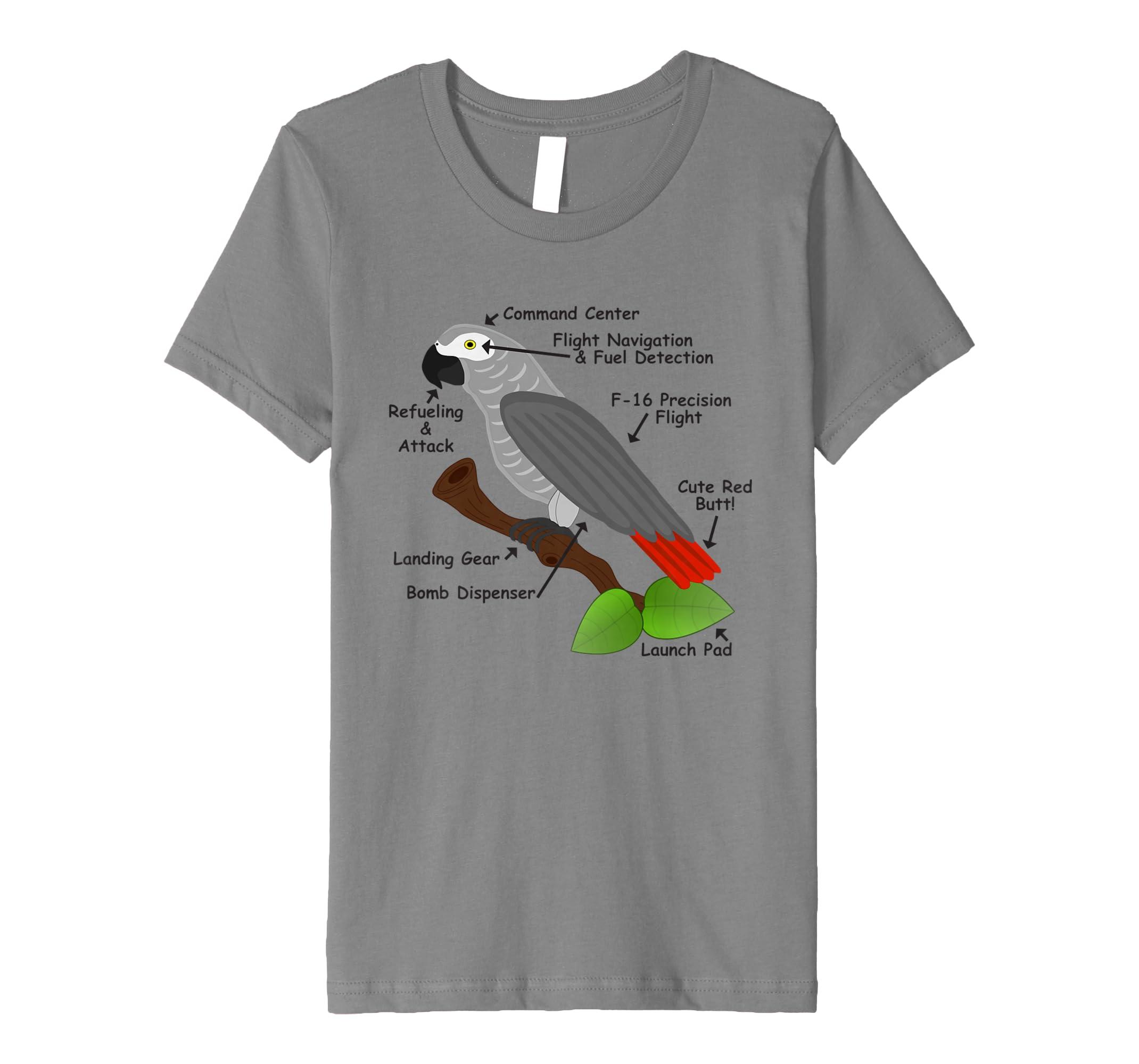 Amazon Anatomy Of An African Grey Parrot T Shirt For Men Women