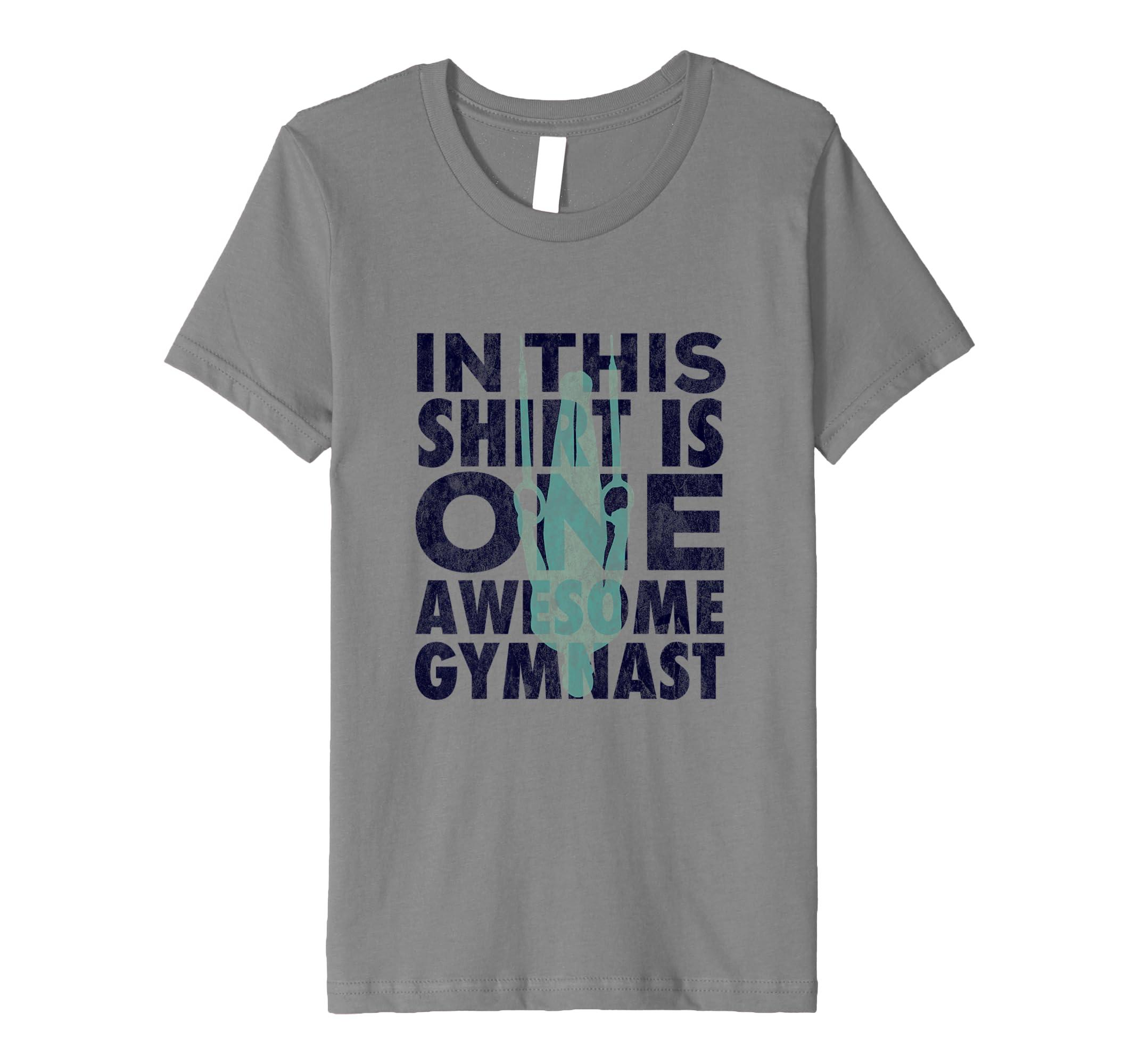 ee0cb0b8c8d85 Amazon.com: Boys Gymnastics Shirt Artistic Gymnastics Rings Gymnast ...