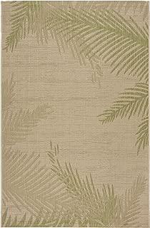LR Home CAPTI81024BEP7995 Captiva Verdant Palms Indoor/Outdoor Area Rug, 7'9