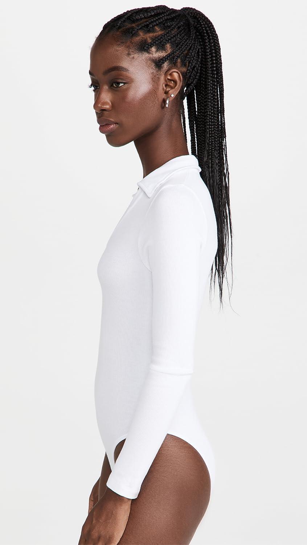 Stateside Women's Deep Johnny Collar Bodysuit