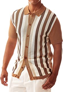 Men's Short Sleeve Knit Sports Shirt - Modern Polo...