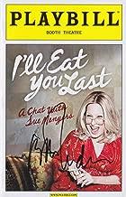Bette Midler signed I'll Eat You Last Playbill
