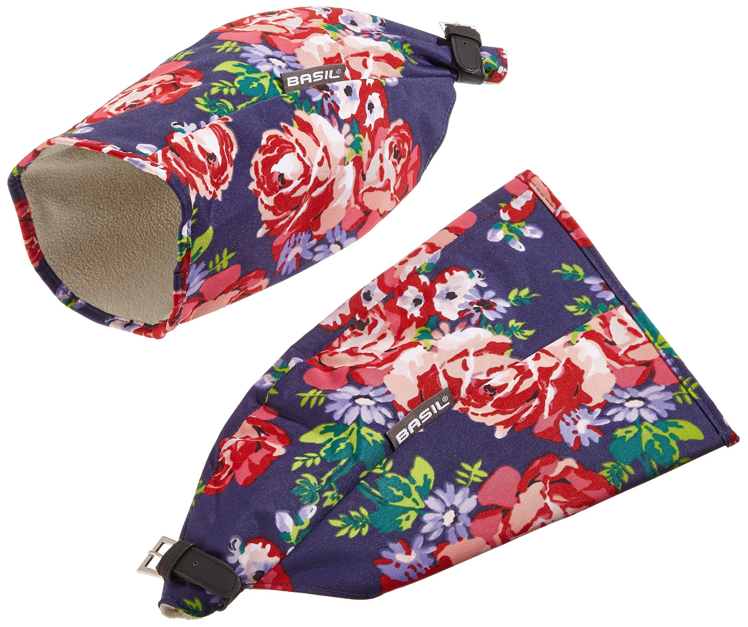 Basil Abdeckhaube Blossom Roses-Hand Warmers, blau mit weißem Innenfutter, 5034